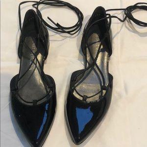 Black patten leather Stuart Weitzman shoes